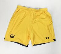 Under Armour Cal Golden Bears Armourfuse Soccer Short Men's Large Yellow UJUS2PM