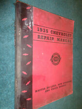 1935 CHEVROLET CAR AND TRUCK SHOP MANUAL / ORIGINAL BASE BOOK FOR 1936 ALSO