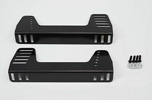 1320 Performance Seat Bracket Steel 90 Degree Universal Side Mount- Black