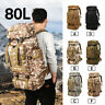 80L Military Tactical Army Backpack Rucksack Camping Hiking Trekking Luggage
