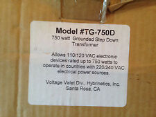 Converter for Travel 220/240 Vac to 110/120 VAC Model #TG-750D Never Used