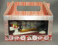 Dollhouse Miniature Snowmen Sledding Scenario/roombox in a Treat Box
