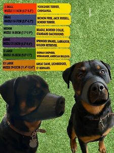 Dog Safety Muzzle in Soft Nylon 6 Sizes - Chihuahua to St Bernard