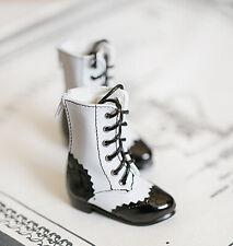1/4 bjd MSD MDD girl doll white & black lolita boots dollfie dream luts minifee
