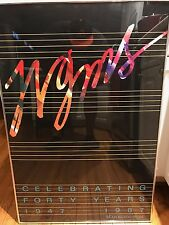 Wgms Radio Framed Poster 40th Anniversary 1987- Professionally Framed