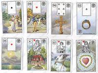 MILE LENORMAND #1941 CARTOMANCY TAROT CARDS - 3 LANGUAGES #121
