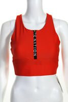 P.E. Nation Womens Sleeveless Low Impact Straight Fire Sports Bra Red Size Small