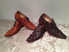 GENUINE CROCODILE SKIN MENS SHOES LEATHER ALLIGATOR 100% (handmade shoes)