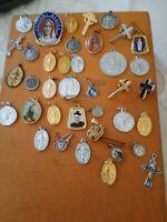 Articoli Religiosi Lotto 36 medaglie croci ecc