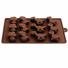Silicone Chocolate Mould Tray Round Icing Craft Cake Jelly Baking Dinosaurs