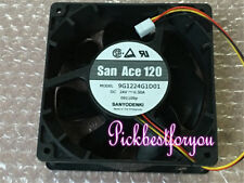 SANYO 9G1224G4D01 DC24V 0.47A 120*120*25mm 3pin Inverter Axial fan #MQ14 QL