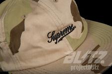 SUPREME SIDE POCKET SCRIPT LOGO 6-PANEL CAP DESERT CAMO SS18 2018 CAMP HAT