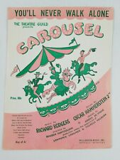 Vintage Sheet Music Carousel You'll Never Walk Alone 1945 Pop Piano Voice