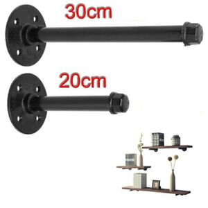 Pipe Shelf Brackets Industrial Rustic Shelves Wall Floating Supports Tube Rack
