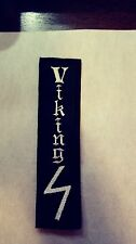 Viking with Victory Rune Patch, black & White. HARLEY DAVIDSON Outlaws MC 1%er