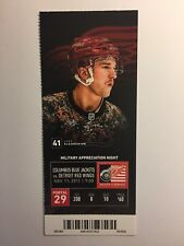 DETROIT RED WINGS VS COLUMBUS BLUE JACKETS NOVEMBER 11, 2017 TICKET STUB