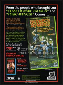 REDNECK ZOMBIES__Original 1989 Trade print AD / ADVERT__TROMA Inc horror