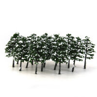 20x Snow Winter Tree Model HO 1/100 Scale Layout for Diorama Roadway Scenery