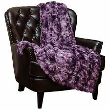 Chanasya Faux Fur Throw Blanket Warm Plush Soft Fluffy Sherpa for Bed Couch Sofa