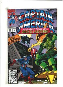 Captain America #396 NM- 9.2 Marvel 1992 Thor, 1st App. New Jack O' Lantern