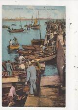 Quiberon Port Maria Debarquement De La Sardine France Vintage Postcard 971a
