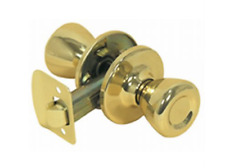Mobile Home/RV Interior Passage Door Knob Polished Brass Fastec