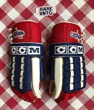Vintage 80's Washington Capitals CCM HG2 Team Issued Pro Stock NHL Hockey Gloves