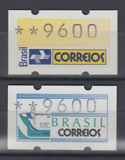 Brasilien Klüssendorf-ATM Postemblem / BRASILIANA'93,  Mi.-Nr. 4 und 5 **