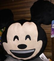 """Disney Emoji - Happy Smiling Laughing Mickey Mouse 10"""" Plush Pillow - New"""