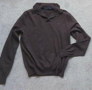 Polo Ralph Lauren Merino Wool Ladies' Jumper Size Medium uk 10/12 brown