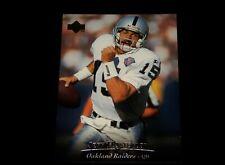 Vintage NFL Football Card, 1995 UPPER DECK OAKLAND RAIDERS, Jeff Hostetler, #112