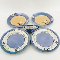 Vintage Lot Takito TT Japan Lusterware Plum Cherry Tree Blossom Birds Plates Cup
