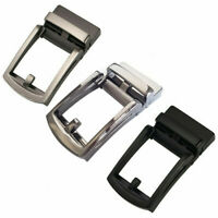 Men's Automatic Slide Buckle Replacements Metal Ratchet Leather Belt Buckles