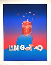 Folon Jean-Michel sérigraphie originale signée art abstrait surréalisme