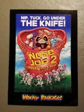 The Nose Job 2 Red Ludlow Back 11/25 2018 Topps Wacky Packages Go to the Movies
