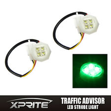 180W 2LED Hide-Away Bulbs Flash Strobe Lamp Tube Replacement Kit Headlight Green