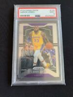 2019-20 Panini Prizm #129 LEBRON JAMES Base PSA 9 Mint LAKERS