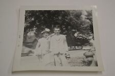 Vintage Kids Dressed Up Suit and Hat w/ Feather Record Black & White Photograph