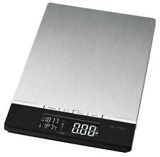 Clatronic Küchenwaage Stainless steel 5kg/1g with clock Temperature display