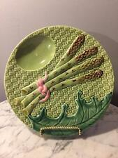 STUNNING BORDALLO PINHEIRO MAJOLICA ASPARAGUS PLATE MADE IN PARtUGAL