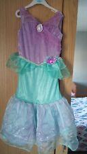 Ariel Little Mermaid Disney Store Dress Up Age 5-6 deluxe glitter fancy costume