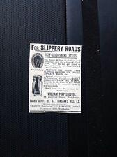 ephemera 1901 Advert William Poppelreuter Manchester Self Sharpening Studs