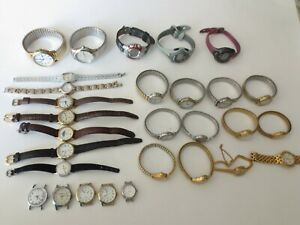 LOT OF 29 ASSORTED TIMEX WATCHES FOR PARTS OR REPAIR ONLY