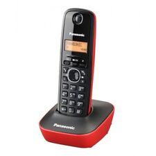 Teléfono Inalámbrico Panasonic KX-TG1611 Color Rojo y Negro Base Gran Alcance