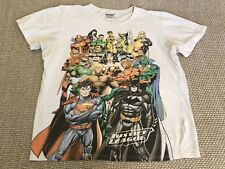 Mens Justice League Casual T-shirt Official Fantasy Science Fiction White XL