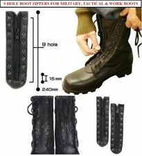 Military Combat & Work Boots Lace In Boot Zippers Set Of 2 Leather Heavy Duty Ii