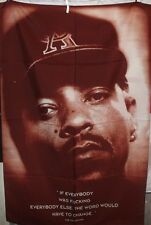 ICE-T Textile Flag Poster Original Vintage 1995 Body Count Tracy Marrow Rare
