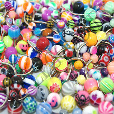V085 Acrylic Belly Naval Rings Barbells 150 of YOUR CHOICE Flowers Heart Stripes