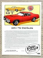 1974 MERCURY CoUgAr XR-7-AD/PICTURE/PRINT 70 72 73 MUSTANG ...