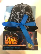 Star Wars Yoda & Vader Towel & Wash Mitt 2 Piece Bath Set